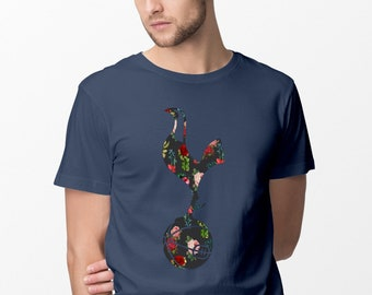Tottenham Hotspur FC Inspired Floral Unisex T-Shirt, Funny Gifts