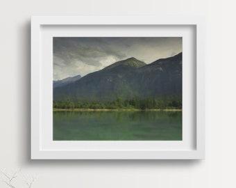 Mountain Print Art, Wilderness, Wilderness Wall Art, Wilderness Art, Wilderness Decor, Mountain Print, Moody, Canada, Printable Art