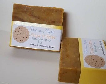 Sugar and Spice Cold Processed Vegan  Homemade Bar Soap