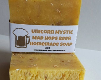 All Natural Mad Hops Citrus Beer  Cold Processed Homemade Bar Soap !