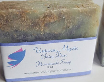 Fairy Dust Cold Processed Vegan Homemade Bar Soap