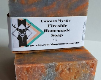 Fireside Vegan Cold Processed Homemade Bar Soap
