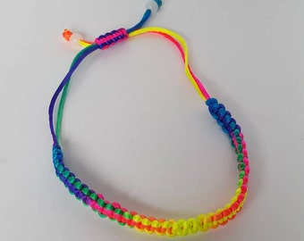 Colorful Friendship adjustable rope  bracelet hand woven bracelet .