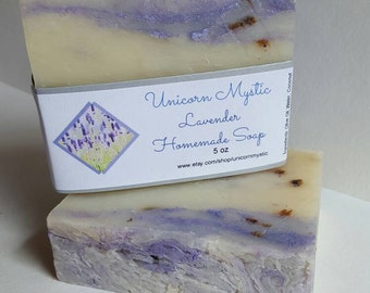 Lavender Fusion  Cold Processed Homemade Bar Soap