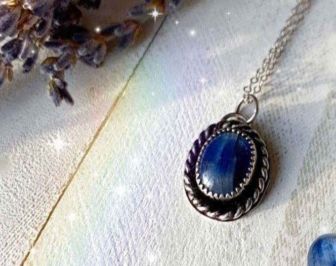 Blue Kyanite// True Blue Collection // Sterling Silver Necklace // MADE TO ORDER