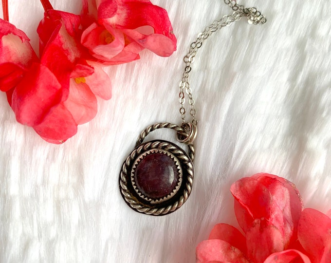 Dream Weaver // Lepidolite Sterling Silver // Handmade necklace