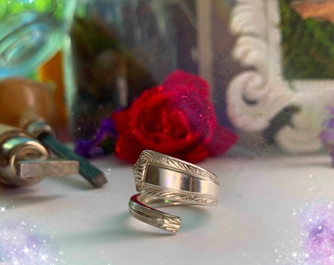 Vintage 1947 Sterling Spoon Ring, size 6