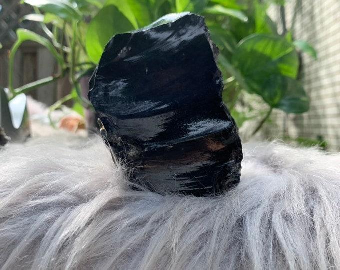 Obsidian Crystal // Reiki // Bohemian Decor // METAPHYSICAL // FREE SHIPPING
