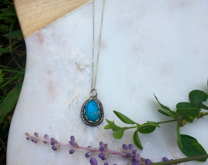 Dainty Blue Collection - Whitewater Turquoise Necklace