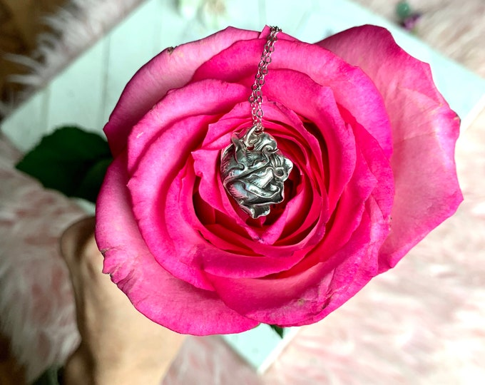 Rose Necklace // Bridal Rose // Vintage Spoon Necklace // Sterling Silver // Vintage