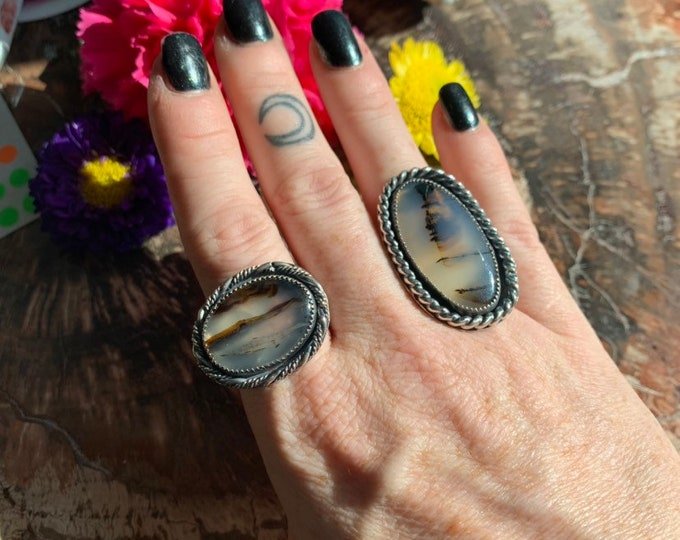SALE !! Montana Agate ring, Handcrafted, size 10.5