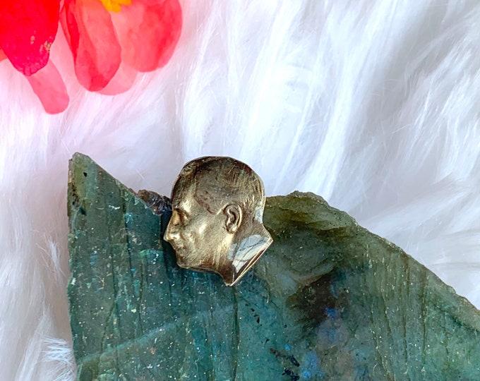 Roosevelt Pin // Dime Piece // Handmade