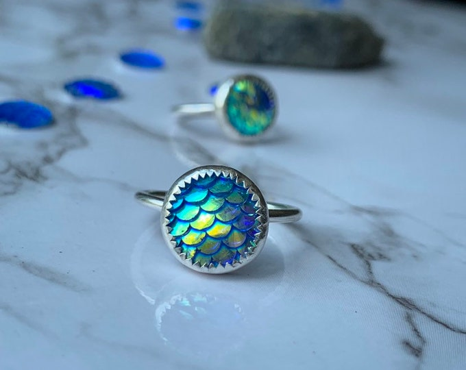 Mermaid off Duty //  STERLING SILVER //  Handcrafted Ring // Mermaid RING