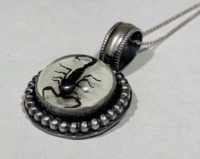 SCORPIO Season // HANDCRAFTED Sterling Silver Necklace // Cruelty Free // Scorpion Necklace