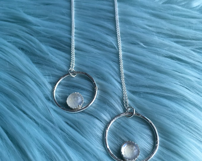 NEW! Moonstone 'Linley' necklace, Sterling Silver, Handmade