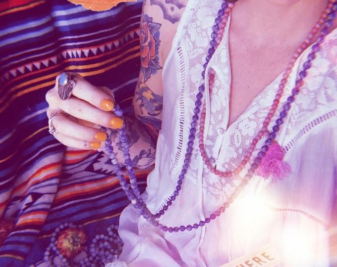 Gemstone MALA // Crystal Necklace // Reiki Jewelry // FREE SHIPPING