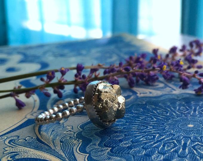 Shine - Pyrite Stacker Ring Size 10.25