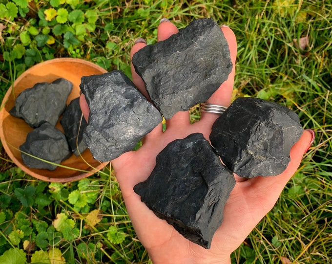 Healing Raw Shungite Chunks, Reiki, Meditation