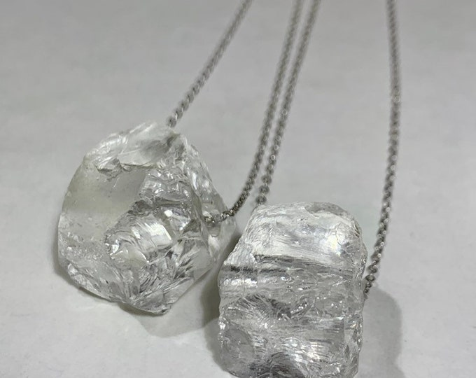 Ice Quartz CRYSTAL Necklace // Handmade Jewelry // Crystal Healing // FREE SHIPPING