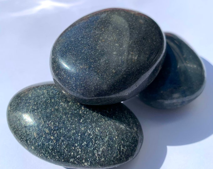 Lazulite Palm stone // CRYSTAL Palm stone // Meditation // REIKI // Chakra