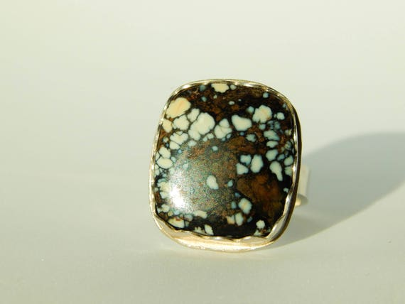 SALE!! New Lander Turquoise Ring, Rare, size 7.75