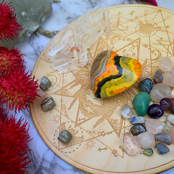 Anti Anxiety Crystal Grid // Bumblebee Jasper // LARGE GRID