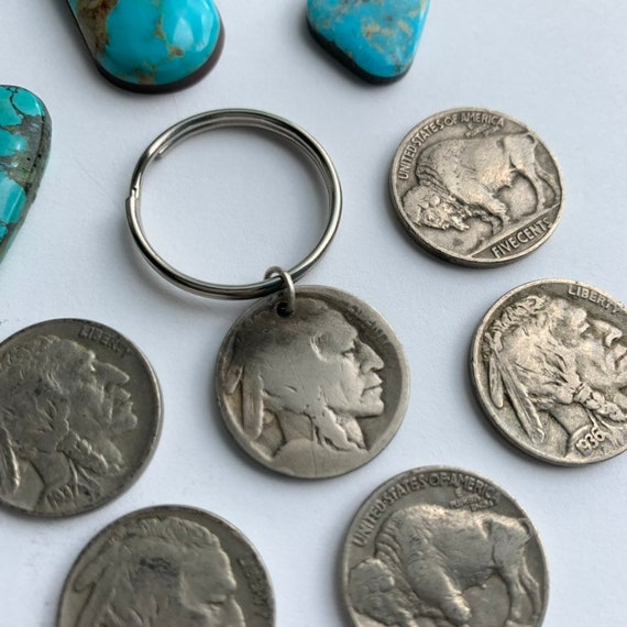 Buffalo Nickel Key Chain // Gifts for HIM // Gifts for HER * Handmade// SOUTHWEST
