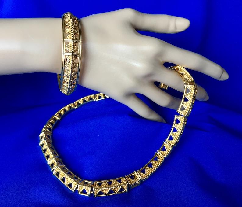 8ece03232d94 SALE Swarovski Signed Vintage Bangle Bracelet and Necklace