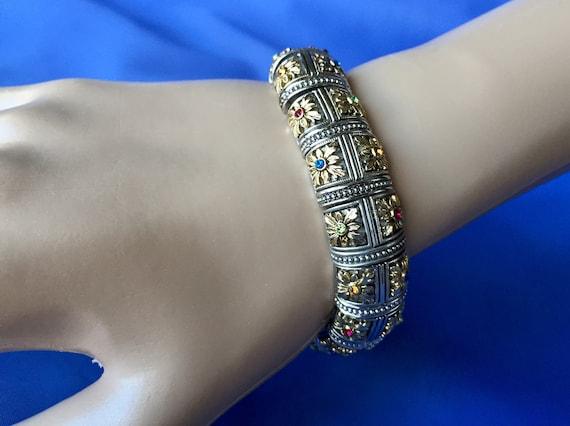 Joan Rivers Vintage Florentine Stretch Bracelet, V