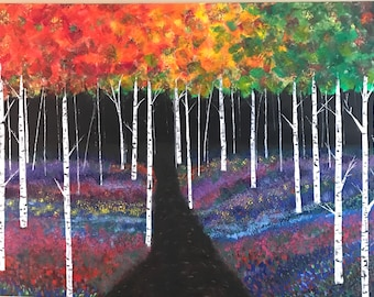 Birch Trees with Path