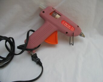 Vintage 1980's Dusty Rose Mauve Pink Hot Glue Gun