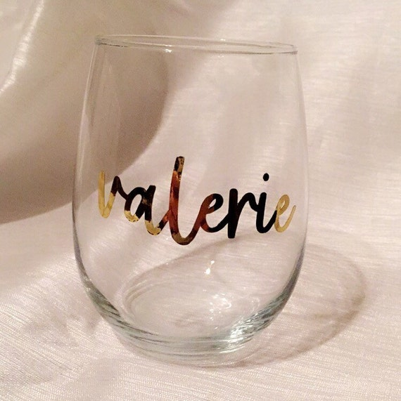 Personalized Name Stemless Wine Glass Wine Personalized Wine Etsy