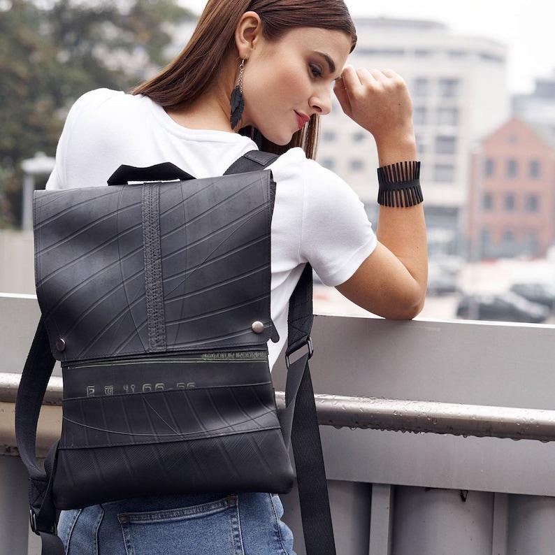 Slimline Stylish and Urband Vegan Inner Tube Backpack  Non image 0