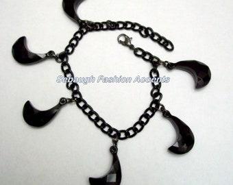 Black Acrylic Bead Bracelet