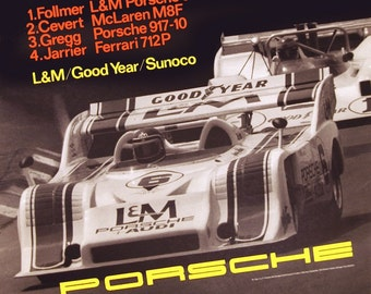 SALE! Road America CAN-AM 1972 - Vintage Poster - Porsche 917-10 Turbo (30 x 39)