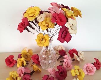 Holzblumen Großhandel, Holz-Blumen in Masse, Hochzeitsblumen, getrocknete Blumen Bulk, Holz Bouquet, Andenken Bouquet, Alternative Bouquet