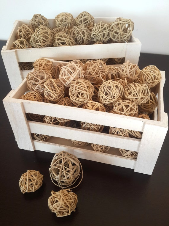 40 Decorative Wicker Balls Decorative Balls Rattan Balls Etsy Beauteous Rattan Decorative Balls