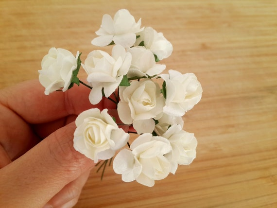 Roses Artificielles Blanches Roses Blanches Mini Fleurs