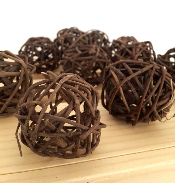 40 Brown Decorative Balls Farmhouse Style Bowl Filler Etsy Simple Decorative Balls For Bowl