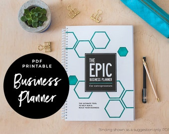 The EPIC Business Planner for Entrepreneurs - Business Planner, PDF printable