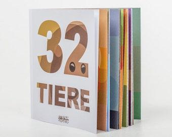 32 animals picture book