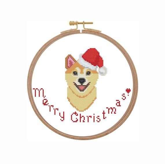 small animal cross stitch Corgi cross stitch pattern PDF for beginners easy cross stitch baby cross stitch cute dog cross stitch