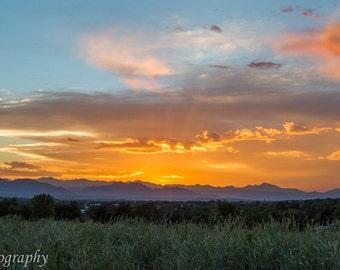 Colorado Rocky Mountain Sunset