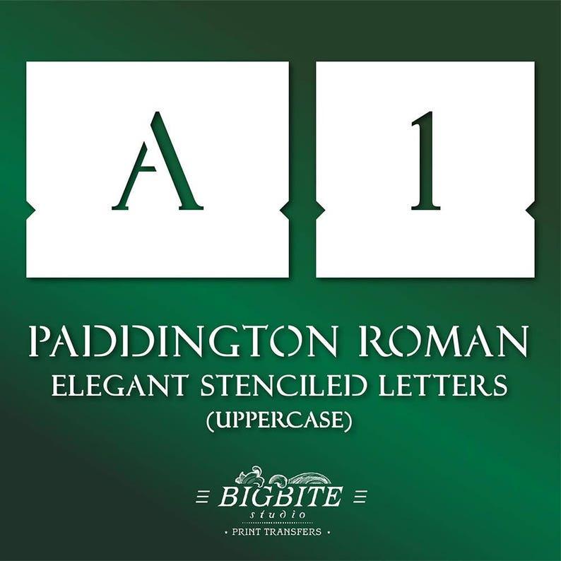 Elegant Letter STENCILS: Font Paddington Roman Uppercase #069 (Furniture  Print Transfer)