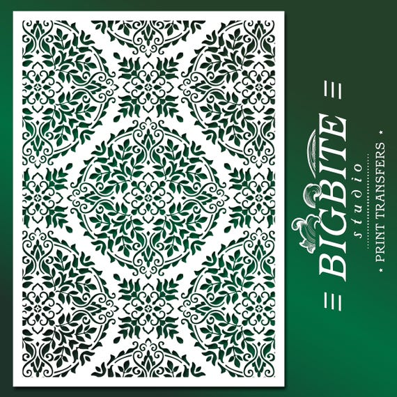 Shabby Chic, Wall, Furniture Stencil: Floral Mandala Stencil Pattern #081  For Craft And DIY/CUSTOMISED From BigBiteStudio On Etsy Studio