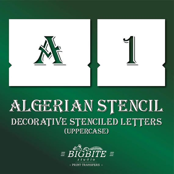 Extra small Letter /& Number Stencil Sign Crafts Template Paint Furniture Art AL1