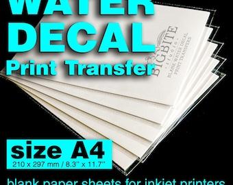 Clear Water Slide Decal Paper A4 INKJET Waterslide Transfer Paper , DIY project