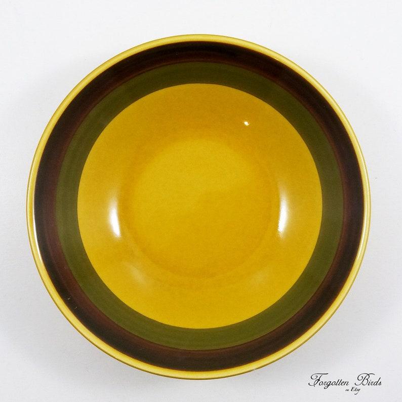 Set of 3 Vintage  Scandinavian Design  Norwegian  Mid Century Modern Stavangerflint Norway Soup Bowl Honey Designed by Inger Waage