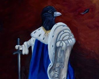 PRINT, The Rain King, Raven, Oil Painting, Fantasy Art, Birds of War