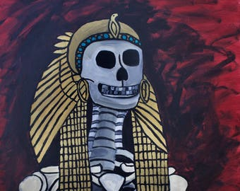 Skeleton Painting, After the Asp (Original Acrylic Painting), Large Painting
